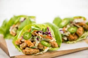 Chicken Banh Mi Lettuce Wraps