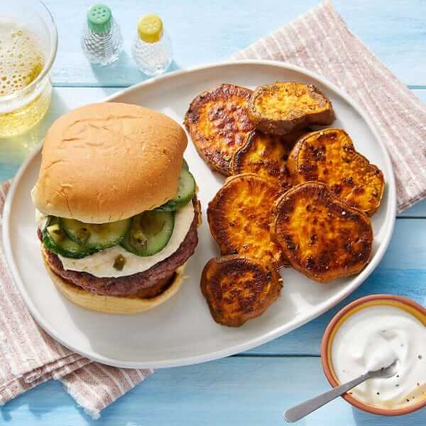 Indian-Style Beyond Burger blue apron